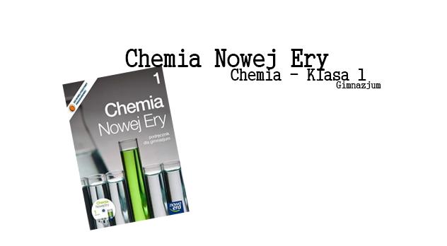 chemia nowej ery 1 sprawdziany okładka
