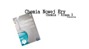 Chemia Nowej Ery 3 Sprawdziany i Odpowiedzi