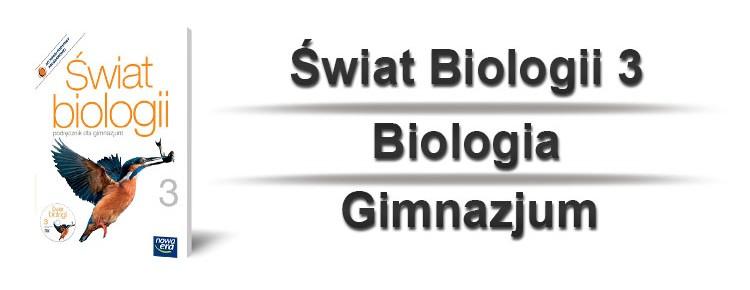 świat biologii 3 okładka